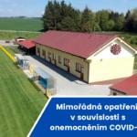 Mimořádná opatření v souvislosti s onemocněním COVID-19
